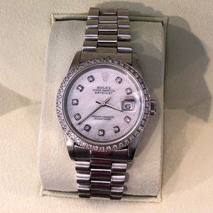 Jewelry - Authentic Rolex date just with white gold bracelet